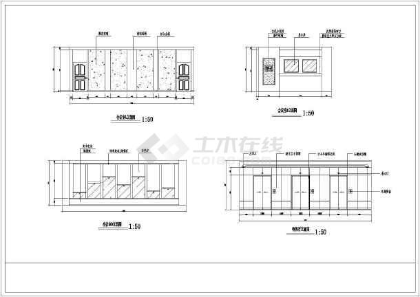办公空间装修设计方案全套CAD图纸图片