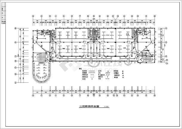 某幼儿园全套电气设计施工CAD图-图2