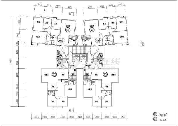某小区住宅的平面户型的CAD图集