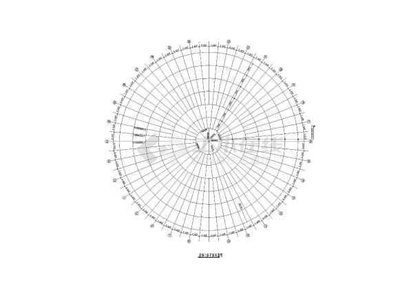 网架檩条设计施工CAD平面布置图