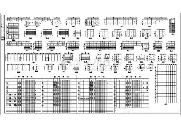 建筑施工图:总平面图,各层平面图,各立面图 ,楼梯,卫生间祥图,门