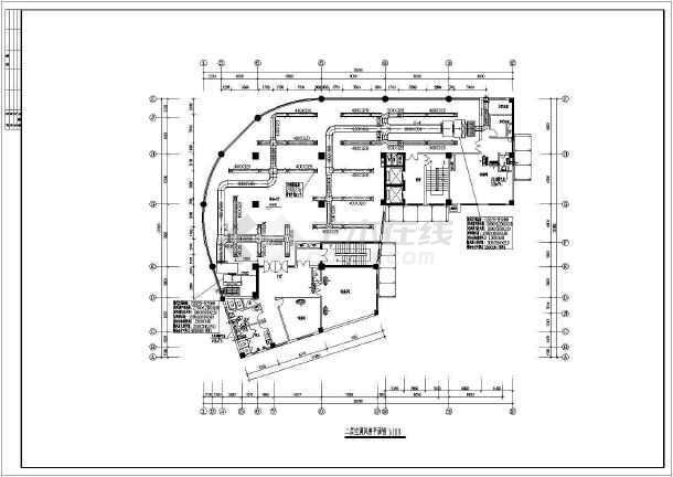 某地区快捷酒店中央空调cad设计千亿国际客户端下载图纸-图1