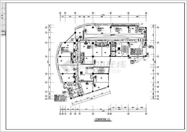 某地区快捷酒店中央空调cad设计千亿国际客户端下载图纸-图2