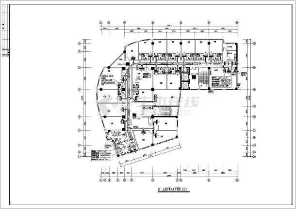 某地区快捷酒店中央空调cad设计千亿国际客户端下载图纸-图3