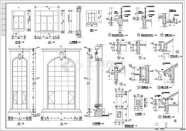 某地小型别墅建筑设计施工图(含效果图)-图2
