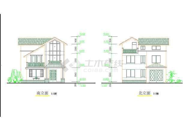 某地区较受欢迎独院式别墅建筑图纸-图2