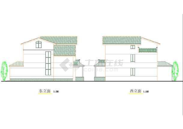 某地区较受欢迎独院式别墅建筑图纸-图3