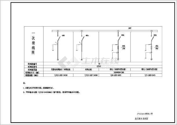 某地区2xx16001600kVA变配电工程设计CAD施工电机图纸绕线图纸图片