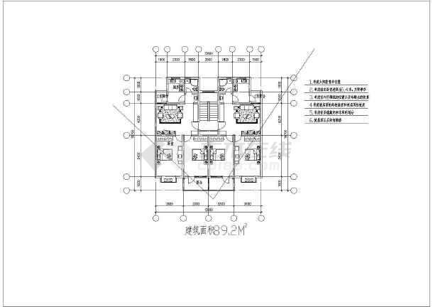 经典小户型住宅楼的完整CAD设计图纸