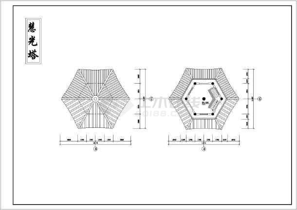某地区砖混结构古塔建筑设计施工图纸v结构室内设计图片