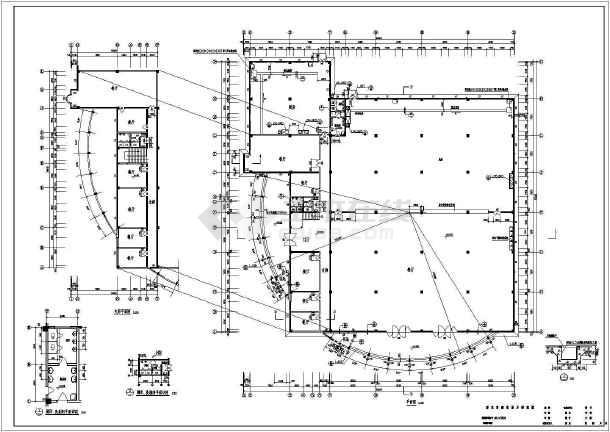 餐厅设计施工方案全套CAD平面图