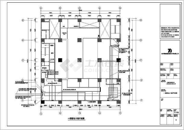 中行图纸施工方案cad设计竣工图纸电气10703全套全部图片