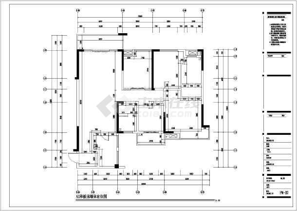 某鑫远文苑一期精装样板房装修设计施工图图片
