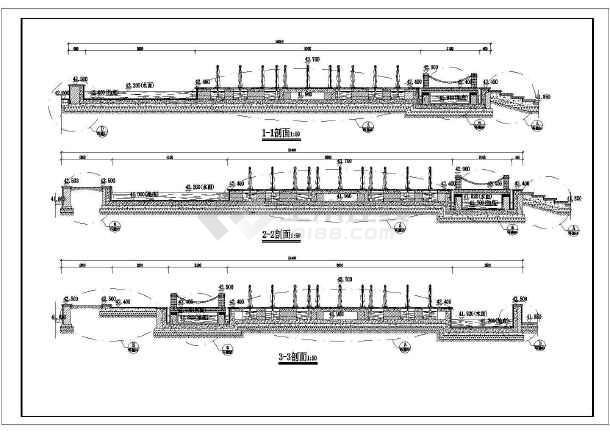 某地藏式别墅建筑设计施工图(共3张)-图1