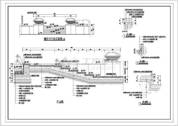 某地藏式别墅建筑设计施工图(共3张)-图2