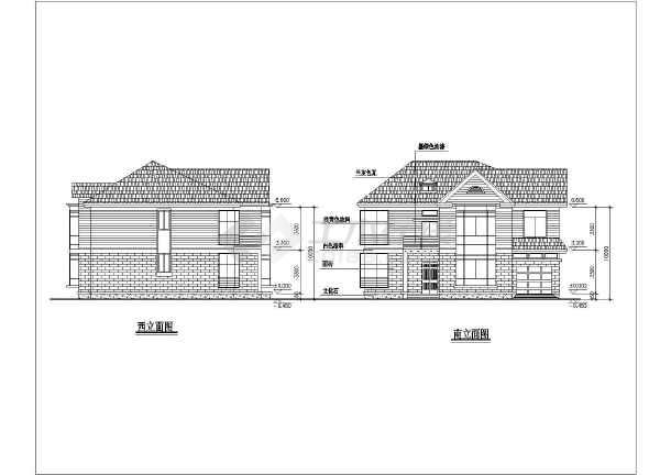几套完整别墅户型的CAD设计方案图-图3