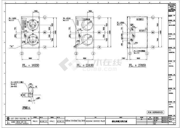 多层钢结构框架设计(工业建筑)施工cad图
