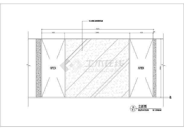 某地区平面卫生间建筑cad图纸施工图关公刀cad商场图片