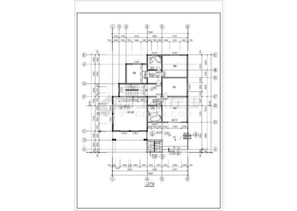 某地区多层别墅户型建筑施工图纸(总套)-图1