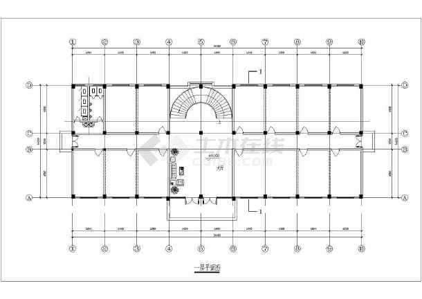 政府办公楼建筑详细全套的cad图纸
