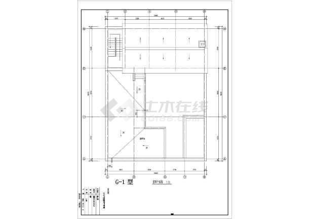 某地经典户型别墅设计施工CAD图纸-图2