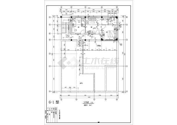 某地经典户型别墅设计施工CAD图纸-图3