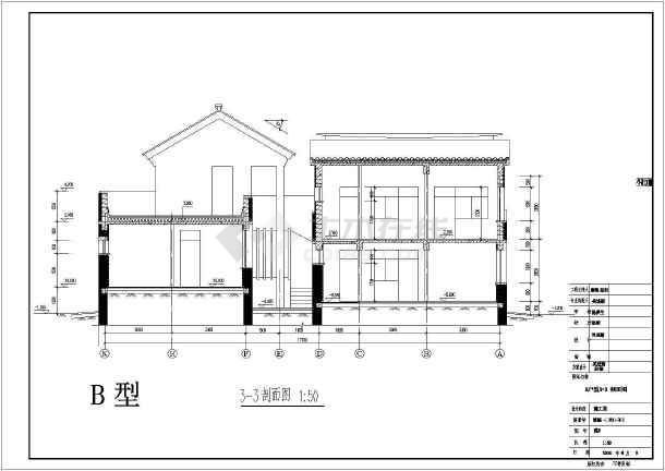 某地区别墅经典户型图设计施工CAD图纸-图1