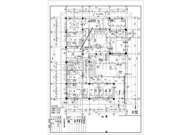 某地区别墅经典户型图设计施工CAD图纸-图2