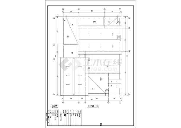 某地区别墅经典户型图设计施工CAD图纸-图3