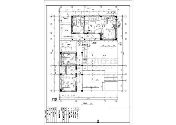 某地区别墅户型图经典设计施工CAD图纸-图3