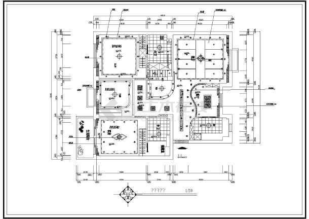 某豪华住宅室内装修设计cad平面图