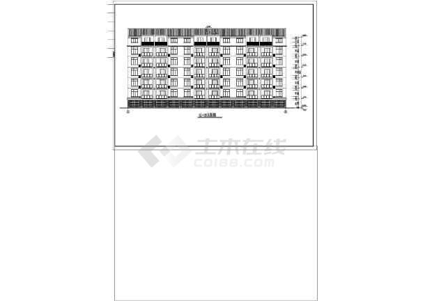 传统单元式多层住宅建筑施工图的图纸