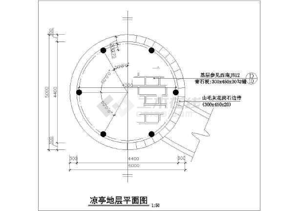 欧式凉亭机械建筑设计CAD施工图cad图铁花图片