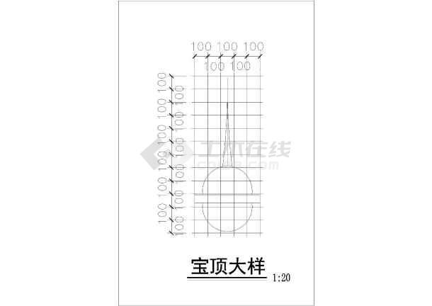 欧式凉亭铁花建筑设计CAD施工图cad的实例v凉亭图片