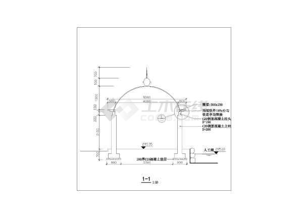 欧式字体引号建筑设计CAD施工图cad凉亭内铁花图片