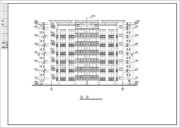 长23.6米 宽18.1米 七层复式1梯4户点式住宅楼设计图