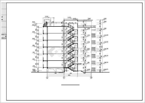 6米 宽18.1米 七层复式1梯4户点式住宅楼设计图