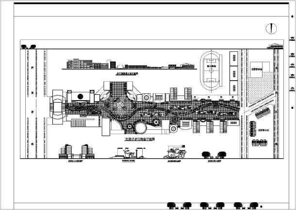 某商业步行街cad总平面设计方案图纸图片