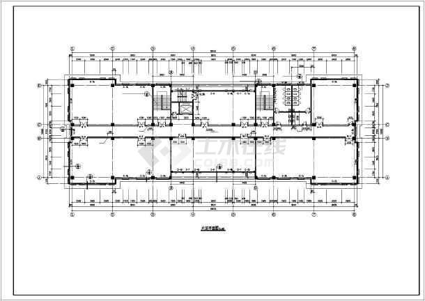 长56米 宽18.3米 六层欧式办公楼设计图(含详图)