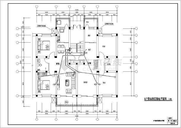 某汽车六层住宅楼全套v汽车电气cad施工图店4s大学cad免费下载图片