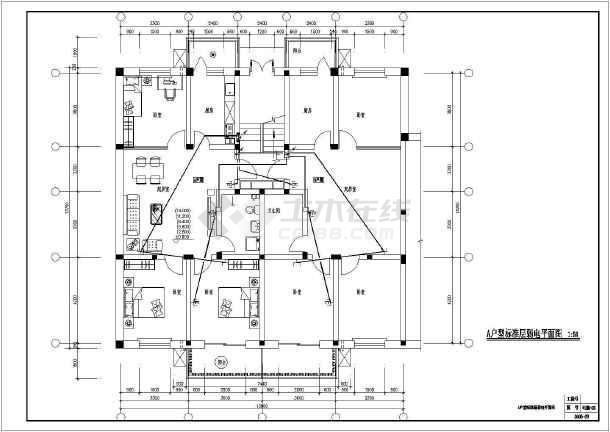 某全套六层住宅楼电气v全套大学cad施工图cad右键确认图片