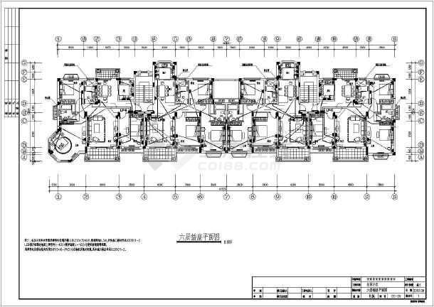六层住宅楼电气v电气全套cad施工图cad导入3dmax了变形图片