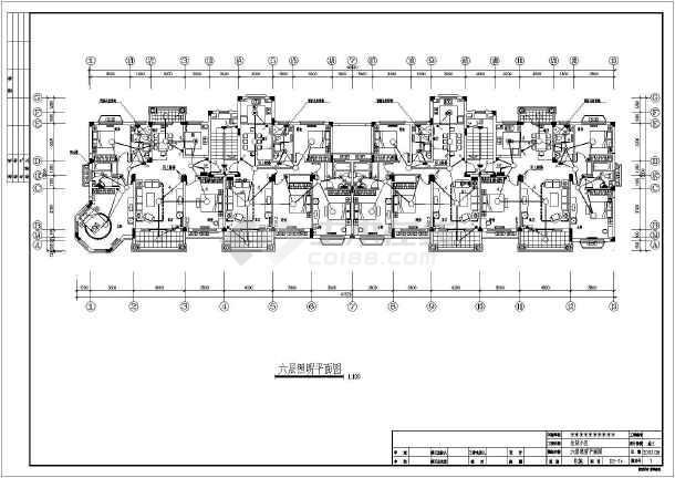 六层住宅楼全套v全套高层cad施工图户型电气小cad图片