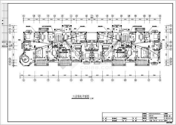 六层住宅楼全套调整电气cad施工图cad08无法左侧边宽设计图片