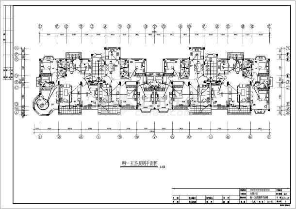 六层住宅楼电气v电气全套cad施工图图书馆cad块下载图图片