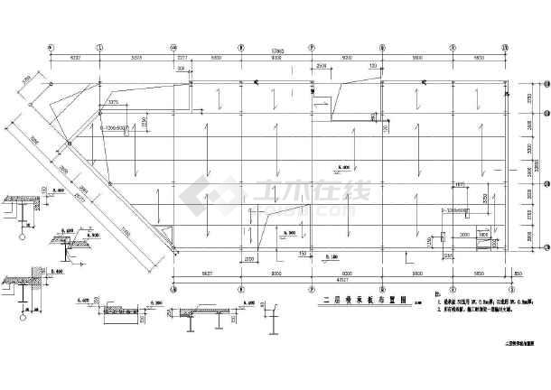 某三层厂房钢结构框架详细施工图纸