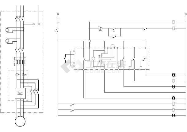 abb软启动电气cad控制精简图纸