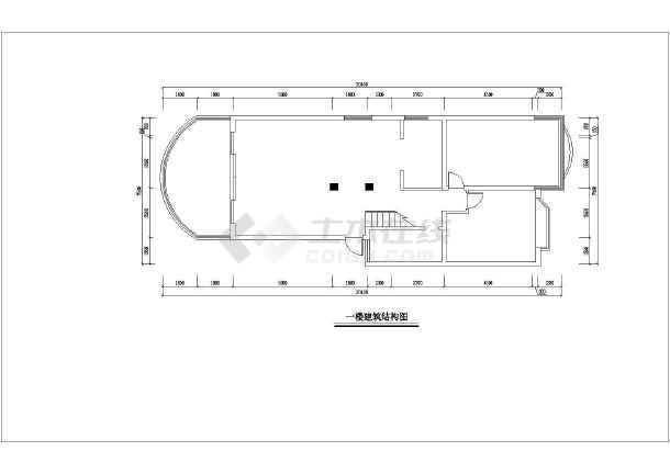 某三层带底层车库别墅 cad施工设计图
