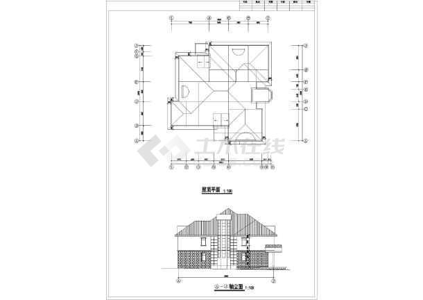 某地区多层大单体别墅建筑设计施工总套图-图1