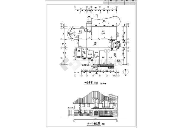 某地区多层大单体别墅建筑设计施工总套图-图2
